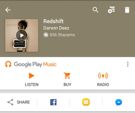 Shazam se actualiza con una mejor integración con Google Play Music