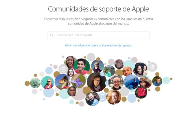 Comunidades de soporte de Apple