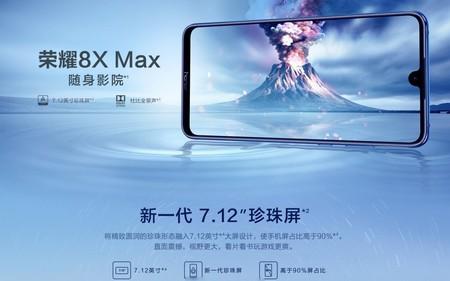 El Honor 8X Max exhibe su gigantesca pantalla de 7,12 pulgadas antes de su presentación
