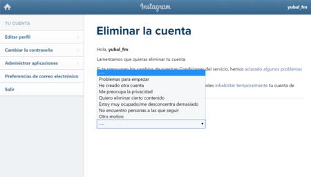 Cómo borrar o eliminar una cuenta de Instagram para siempre 7c57eaea7a4