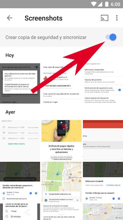 Google Fotos Carpeta