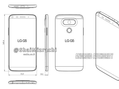 LG G5, filtrados unos diagramas que podrían indicar las líneas de un interesante rediseño