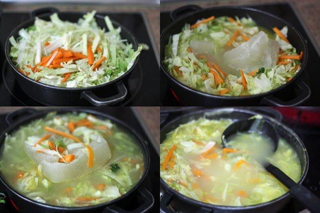 Pasos de sopa juliana