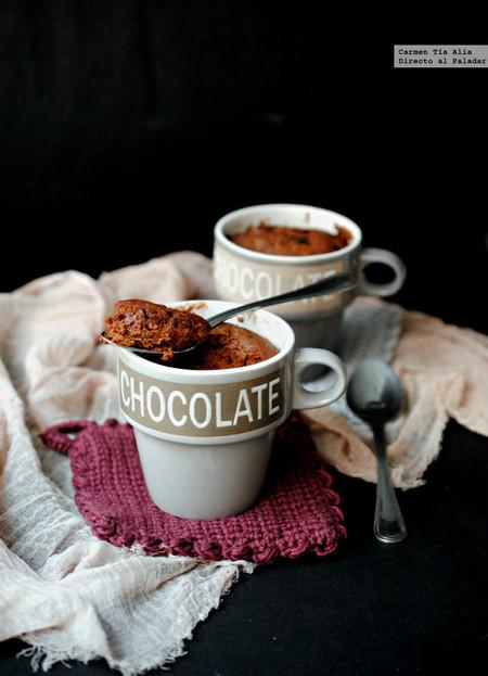 Bizcocho De Helado De Chocolate En Taza