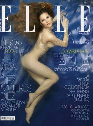 Elsa Pataky vuelve a posar desnuda para Elle