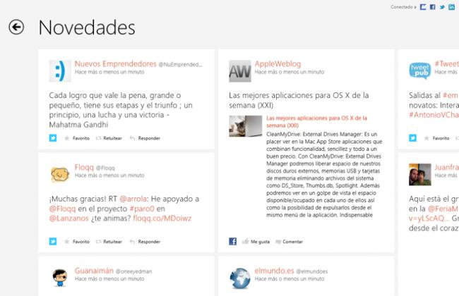 Windows 8 RTM Contactos