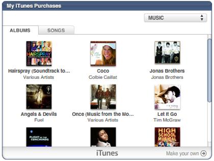 My iTunes, los widgets de Apple