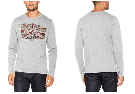 La camiseta de manga larga para hombre Pepe Jeans London Flag está desde 12,84 euros en Amazon