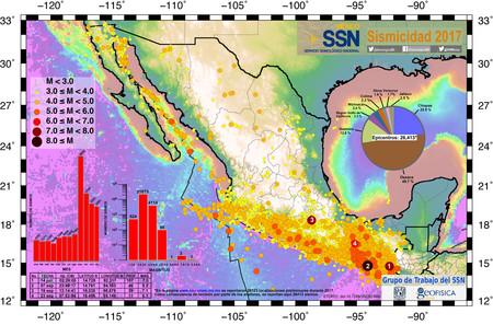 Ssnmx Mapa Sismicidad 2017