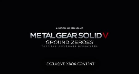 Metal Gear Solid V: Ground Zeroes incluirá contenido único en Xbox