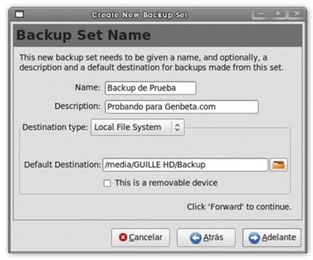 Pybackpack - asistente de copias de seguridad