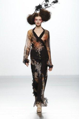 Elisa Palomino en la Cibeles Madrid Fashion Week Otoño-Invierno 2011/2012