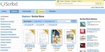 Scribd implementa un sistema de pagos
