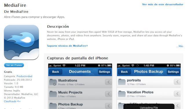 Mediafire para iOS