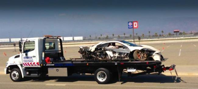 McLaren MP4-12C accidentado