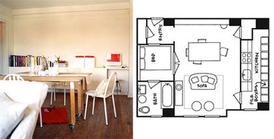 Planos de minipisos decoesfera for Ikea piso 50 metros