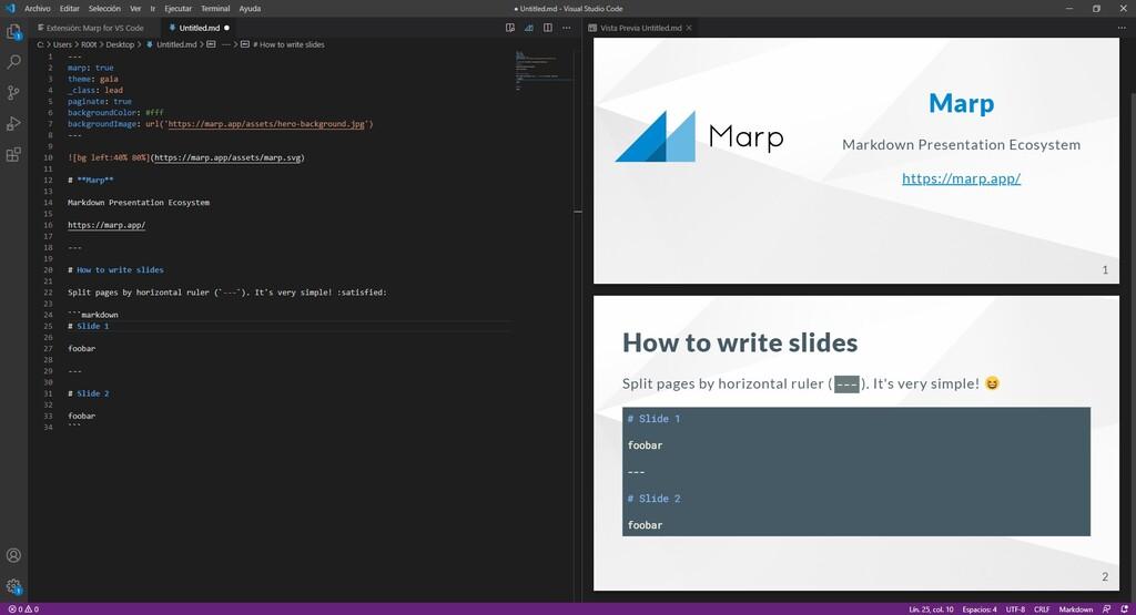 Marp, la herramienta que nos permite crear presentaciones en modo texto usando Markdown