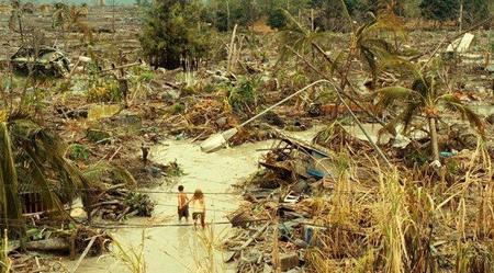 Imagen de los efectos del tsunami en