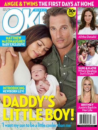 Matthew McConaughey presenta a su hijo Levi Alves McConaughey