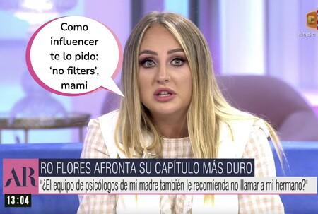 """Rocío Flores pide a la cadena que emita el testimonio completo (sin recortes de 11 minutos) de Rocío Carrasco: """"Dudo que mi madre quiera protegerme"""""""