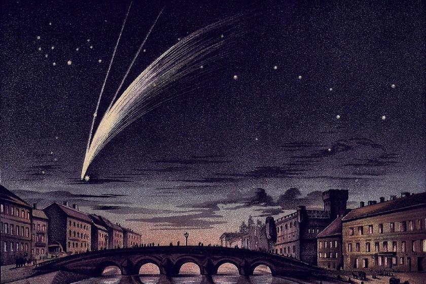 El cometa Donati, el primer cometa fotografiado del que se conserva un gran legado artístico y no esa histórica fotografía