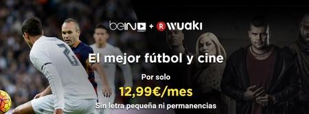 Black Friday en Wuaki: Fútbol + Cine por 12,99€/mes sin permanencia