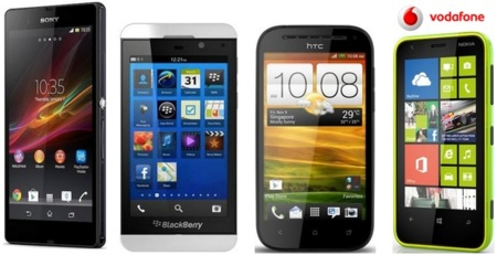 Precios Sony Xperia Z, HTC One SV y Nokia Lumia 620 con Vodafone