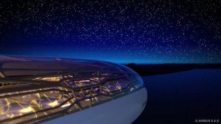 Airbus presentó el avión con techo panorámico, un proyecto para el 2050