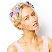 Horquillas violetas flores asos