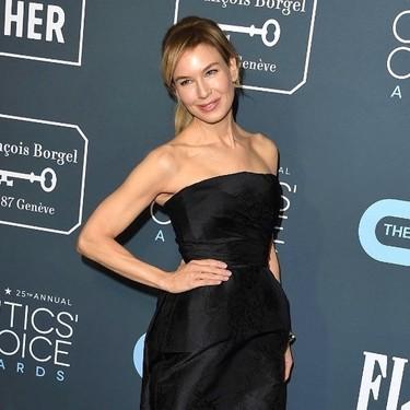 Renee Zellweger va a lo seguro y se enfunda un LBD de Dior en los Critics' Choice Awards 2020
