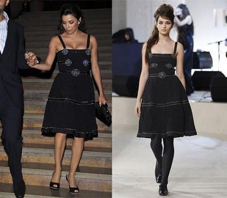 Eva Longoria, de Chanel, en París