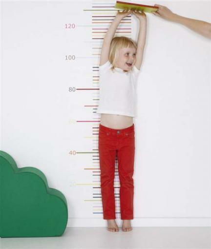 Papel pintado para medir cuánto ha crecido el niño