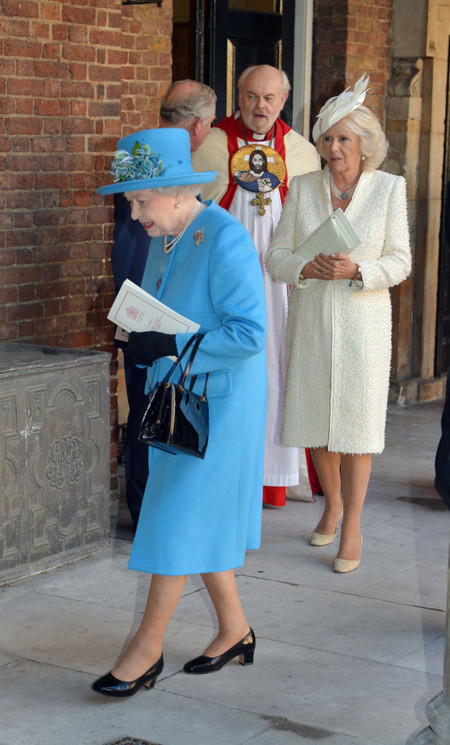 Reina Isabel II bautizo George