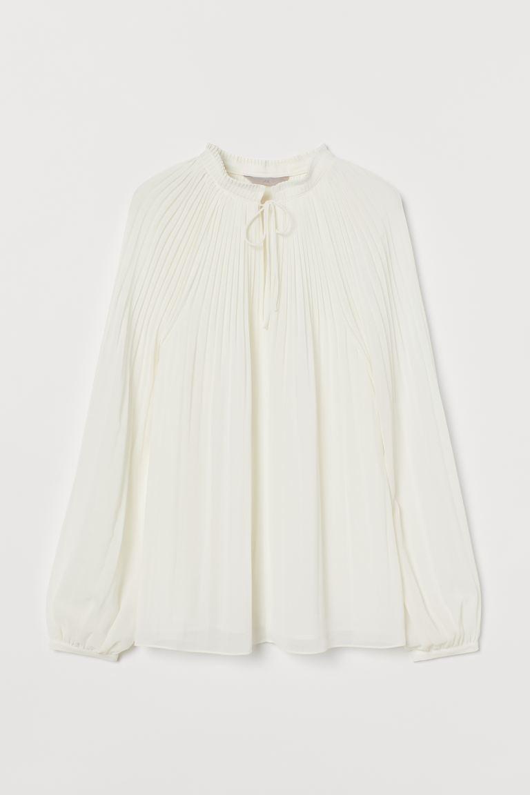 Blusa de gasa de poliéster reciclado H&M