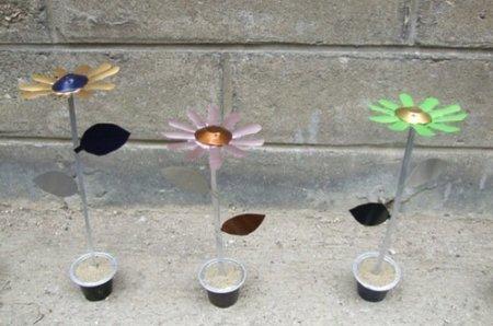 Recicladecoración: flores hechas con cápsulas de Nespresso