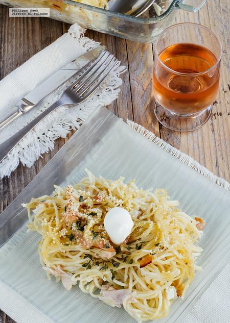 Cómo hacer un tradicional espagueti blanco para Navidad