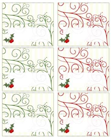 Tarjetas para sentar a los niños en las celebraciones de Navidad