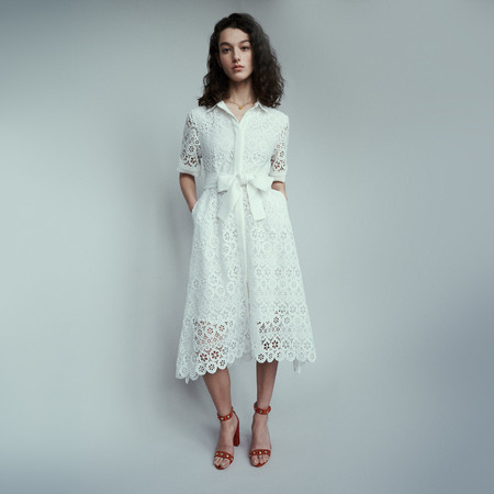 Vestido Guipur Maje