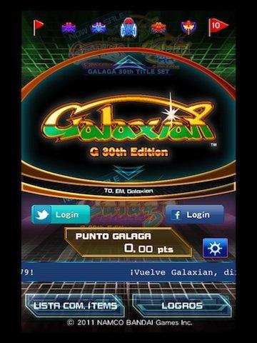 otra imagen del juego Galaxian