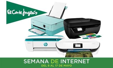 Semana de Internet en El Corte Inglés: rebajas de hasta un 42% en 11 impresoras Epson, HP o Canon y envío gratis o recogida Click&Collect&Car