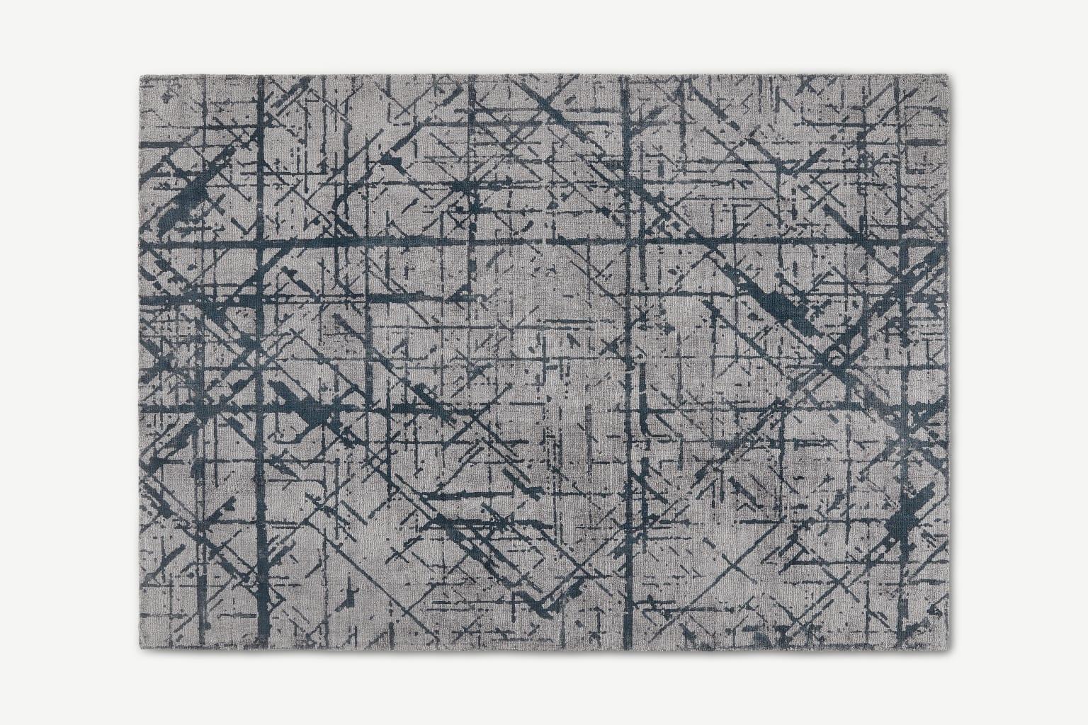 Alfombra de líneas abstractas Moers, grande, 160 x 230 cm