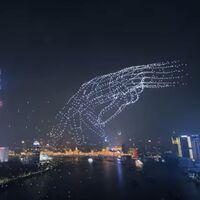 Con 3.281 drones, este impresionante espectáculo en Shanghai ha establecido un nuevo récord mundial