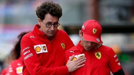 Binotto Leclerc Ferrari F1