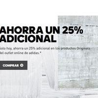 25% de descuento extra en artículos Adidas Originals ya rebajados hasta un 50% previamente. Envío gratis