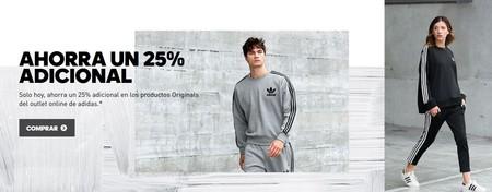 oveja Sentido táctil Estrictamente  25% de descuento extra en artículos Adidas Originals ya rebajados hasta un  50% previamente. Envío gratis