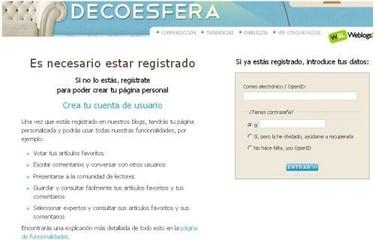 Registrarse en Decoesfera, ahora más fácil y rápido