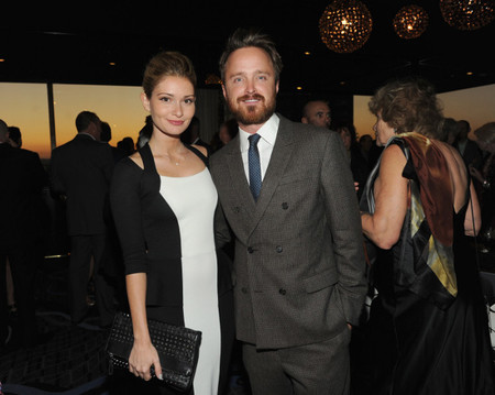 Aaron Paul Traje de doble botonadura barba