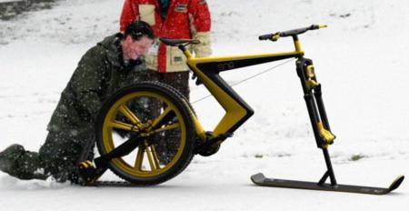 Sno bike nos propone que pedaleemos sobre la nieve