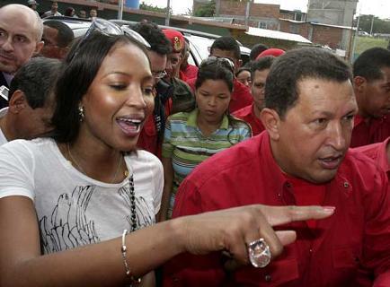 ¿Naomi Campbell y Hugo Chávez enamorados?