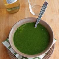 Sopa de papa y kale. Receta